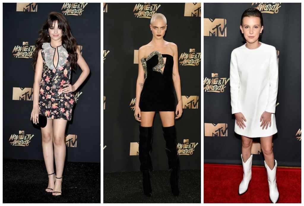 Mulheres carecas e botas brancas: tendências do MTV Awards