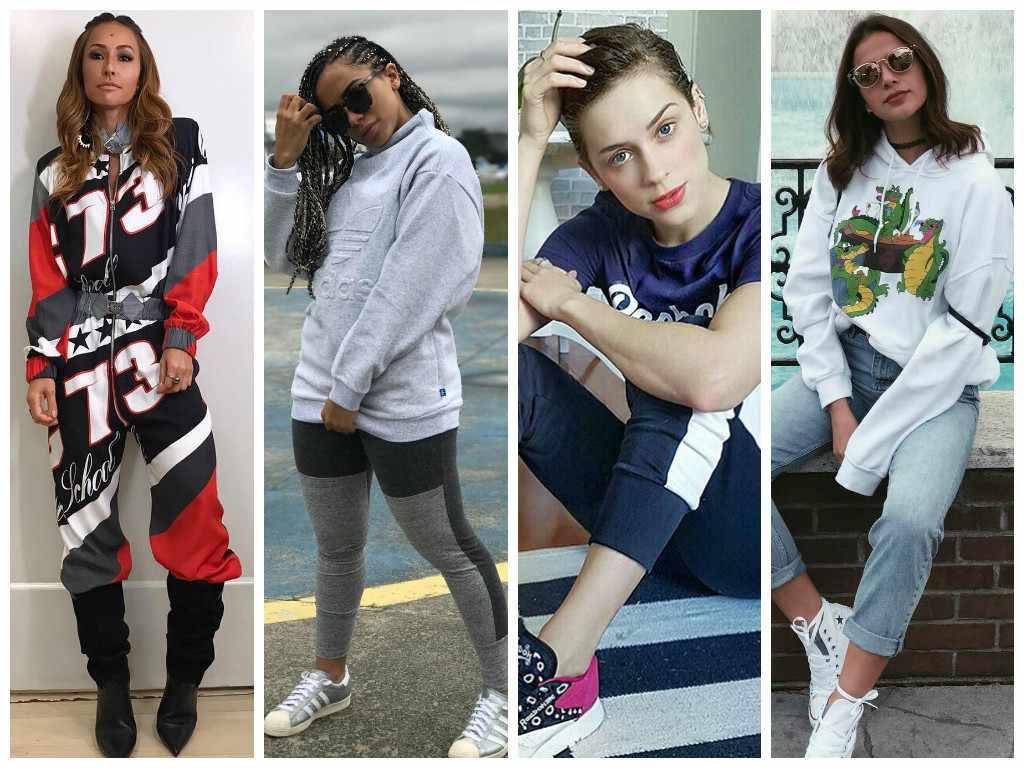 Esportivo: Famosas seguem tendência com moletom, tênis e jaqueta bomber