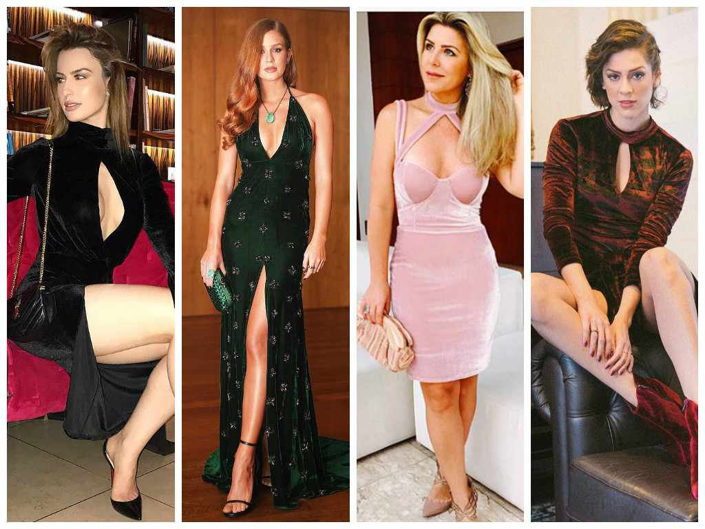 De Marina Ruy Barbosa a Sophia Abrahão: vestido de veludo é queridinho das famosas