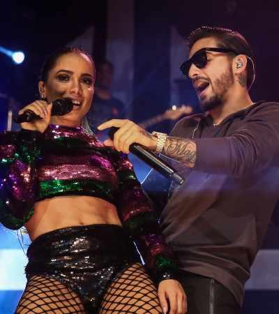 Anitta veste Amir Slama em show com Maluma