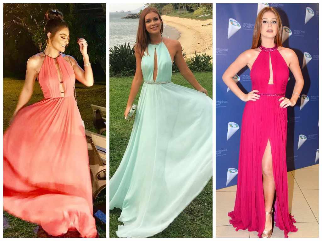 Juliana Paes e Marina Ruy Barbosa usam vestidos semelhantes de marcas diferentes