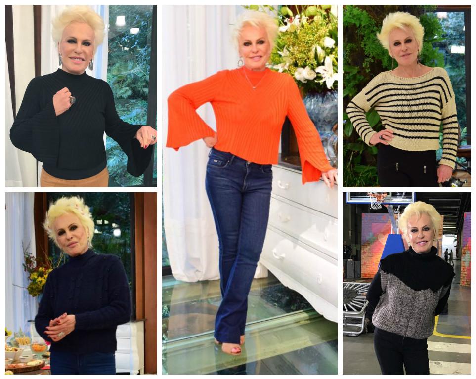 Tá frio? Inspire-se em 5 looks de tricô de Ana Maria Braga