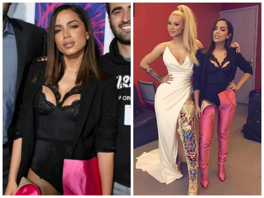 Anitta exibe body de renda e botas de R$ 14,8 mil no MTV MIAW