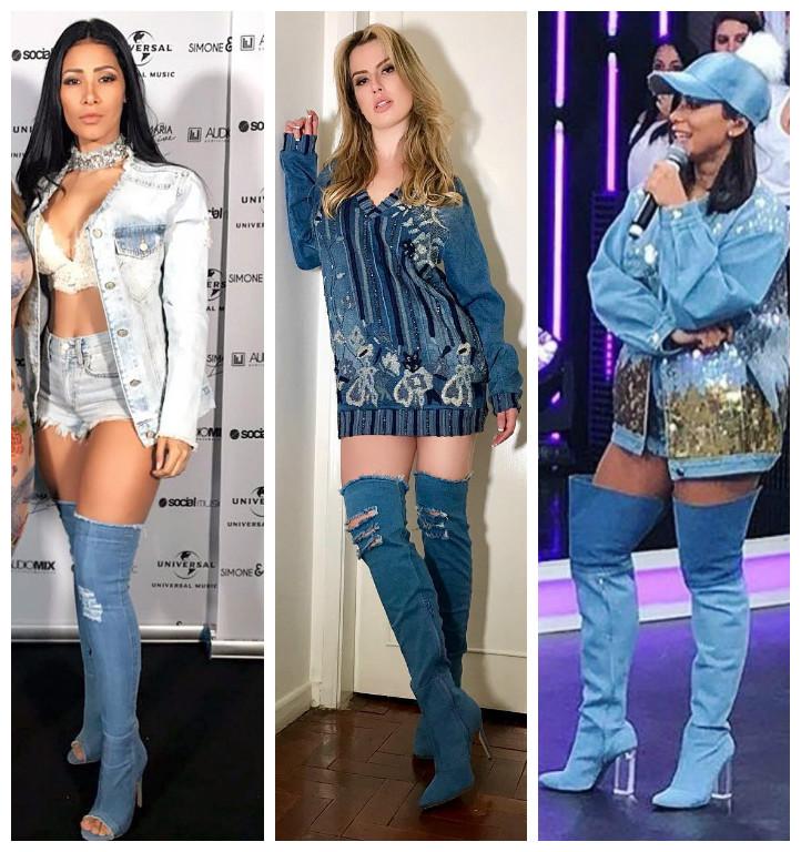 Botas jeans: veja looks ousados de Anitta, Simaria e Fernanda Keulla