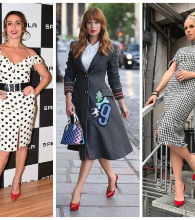Cinderelas in red: famosas apostam em sapatos vermelhos
