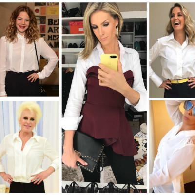 Camisa branca: 6 famosas apostam no curinga de todas as horas