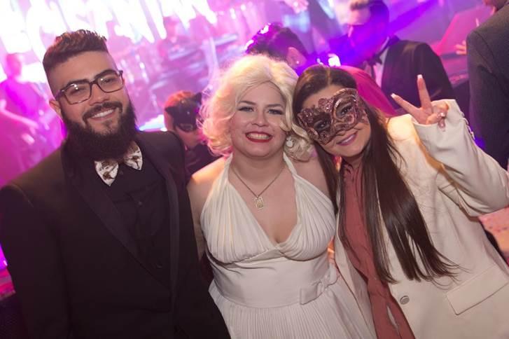 Henrique (da dupla com Juliano), Marília e Maiara (irmã de Maraisa) (Foto: Divulgação)