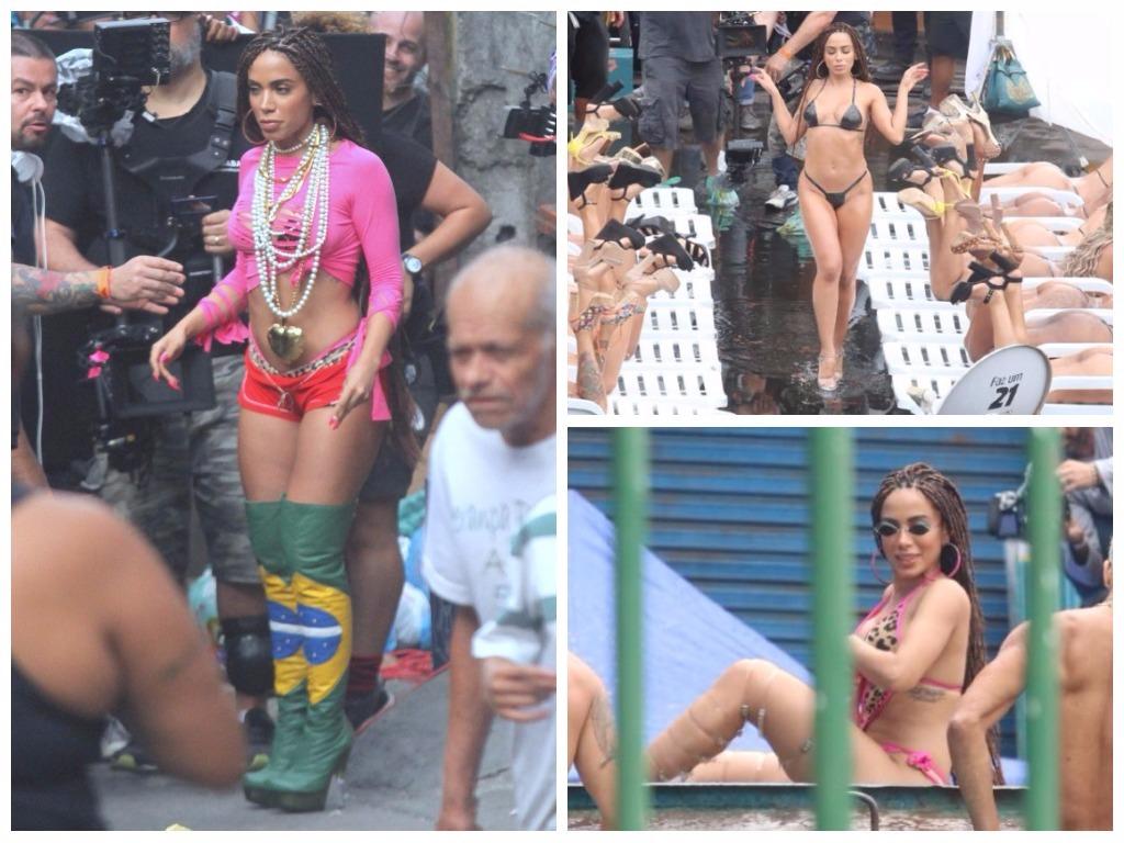 Looks da Anitta para gravar clipe (Fotos: AgNews)