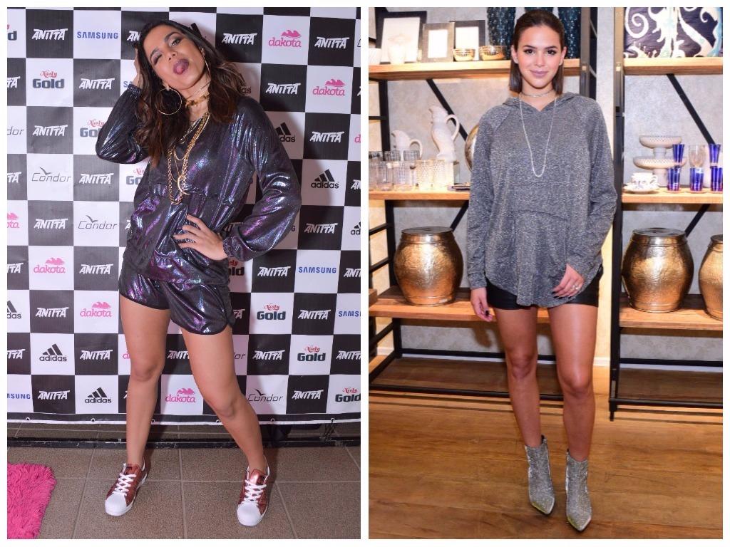 Anitta e Bruna Marquezine (Fotos: Gabi de Moraes/Leo Franco/AgNews)