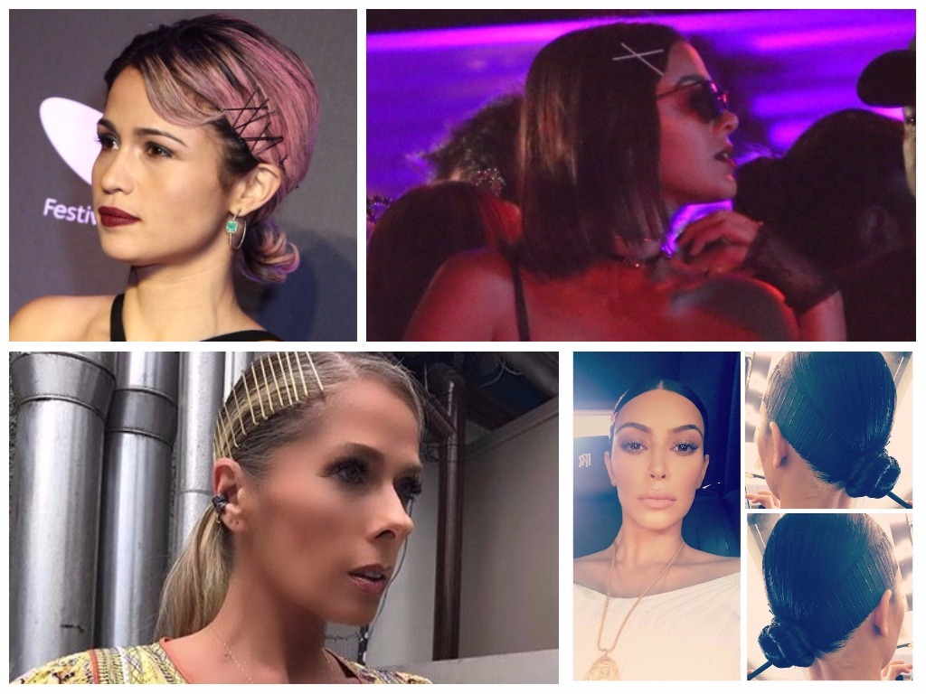 Famosas apostam em penteados com grampos à mostra (Fotos: AgNews - Instagram/Reprodução)