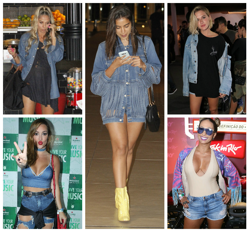 Famosas com jeans (Fotos: AgNews)