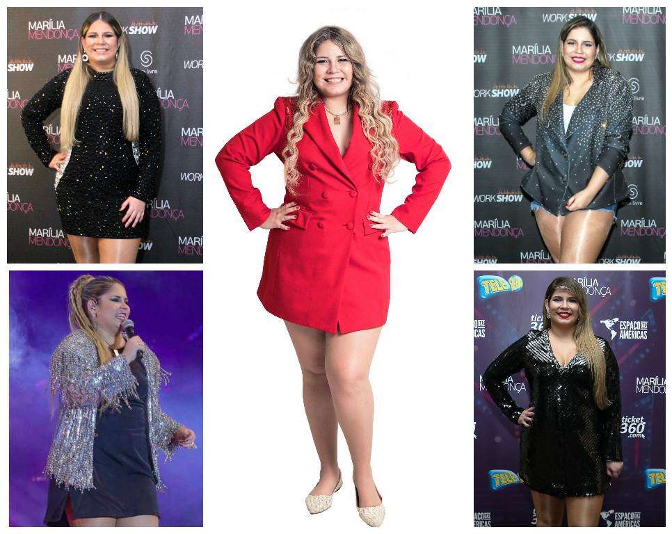 Marília Mendonça com vários looks (Fotos: AgNews)