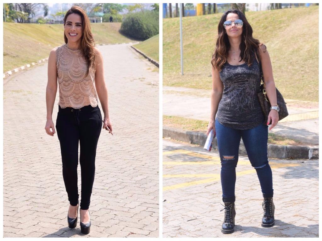 Looks de Wanessa Camargo e Viviane Araújo (Fotos: Leo Franco/AgNews)