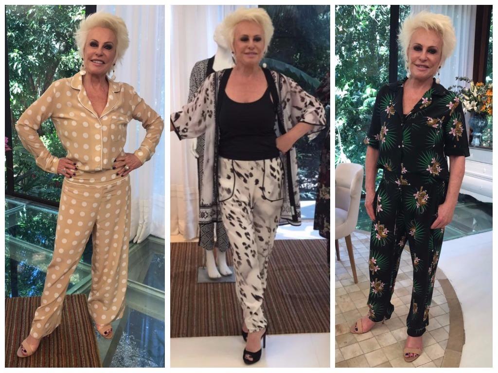 Sem Louro José, Ana Maria Braga veste pijamas no 'Mais Você'