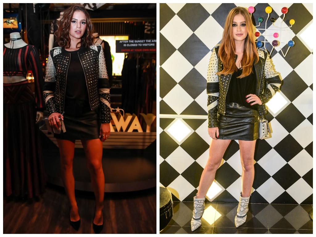 Bruna e Marina usam jaquetas iguais (Fotos: AgNews)