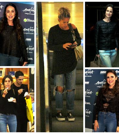 Dupla imbatível: famosas apostam em jeans e blusa preta