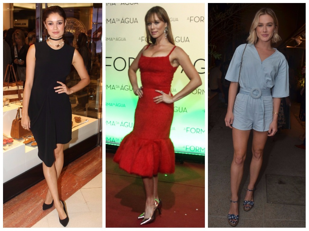 Looks monocromáticos de Sophie Charlotte, Mariana Ximenes e Fiorella Mattheis (Fotos: AgNews)