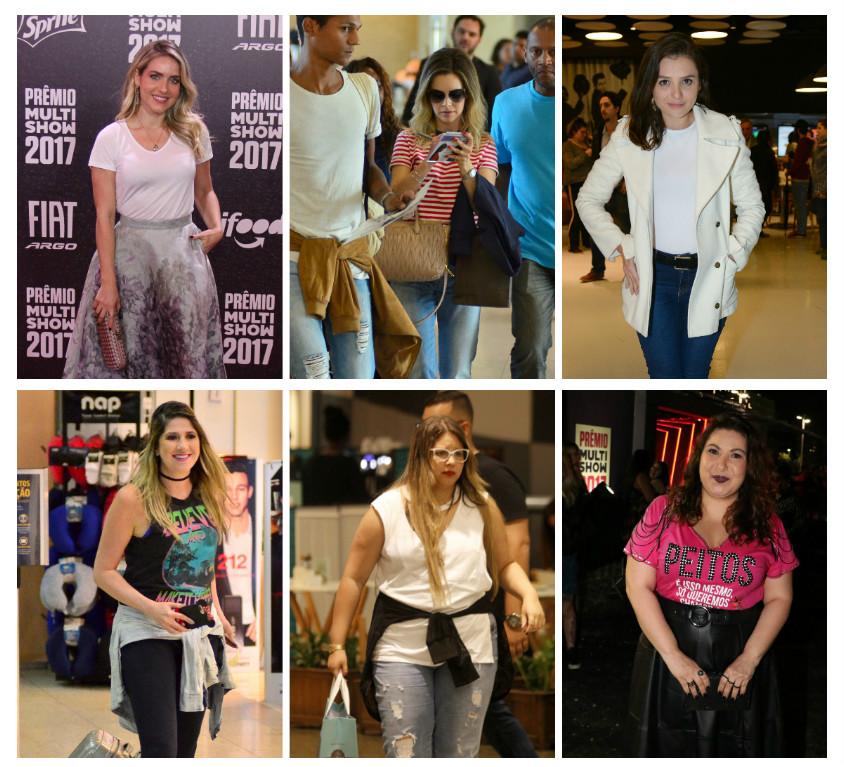 Famosas com camisetas em várias ocasiões (Fotos: AgNews)