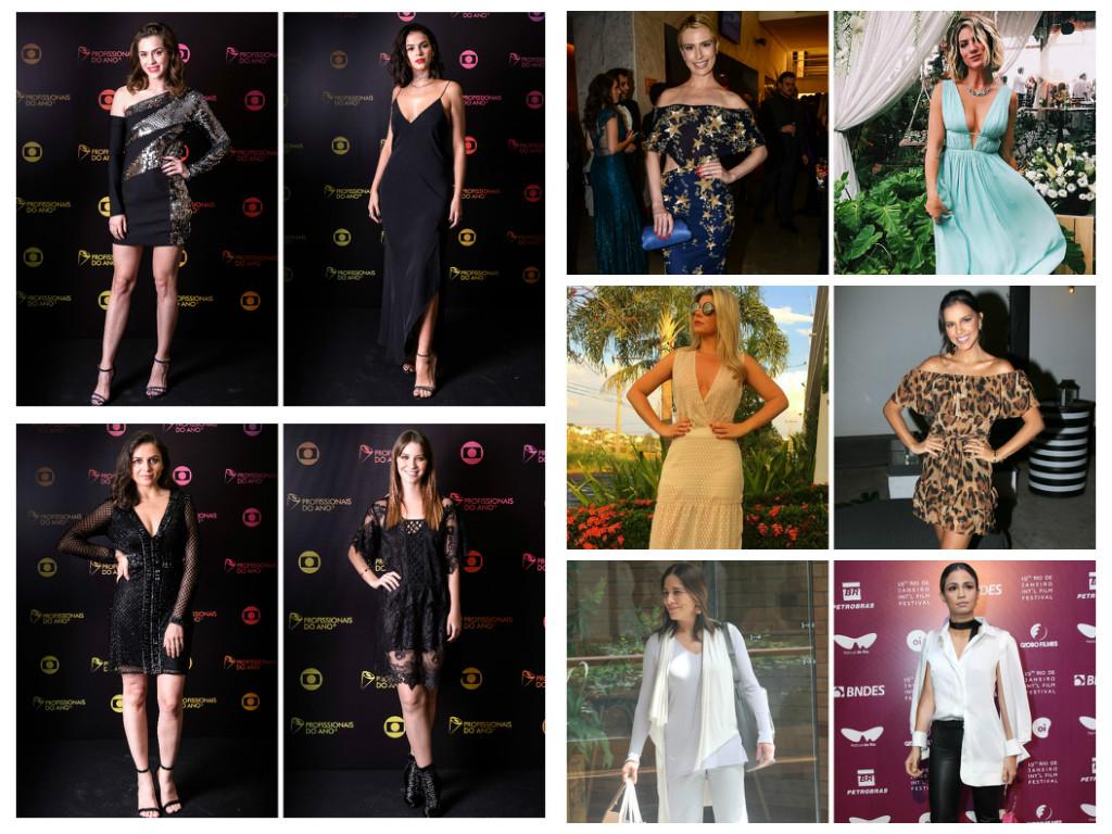 Looks das famosas na semana (Fotos: AgNews - TV Globo/Divulgação - Instagram/Reprodução)