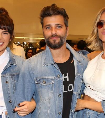 Fe Paes Leme, Gagliasso e Gio Ewbank vestem jeans com jeans