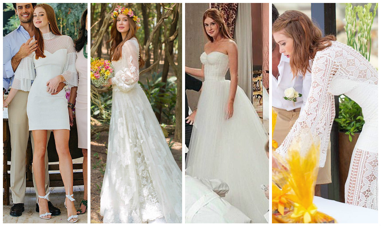 Os 4 vestidos de casamento de Marina Ruy Barbosa (Fotos: Reprodução/Instagram/@marinaruybarbosa)