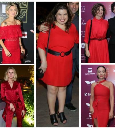 Damas de vermelho: famosas erram e acertam com a cor