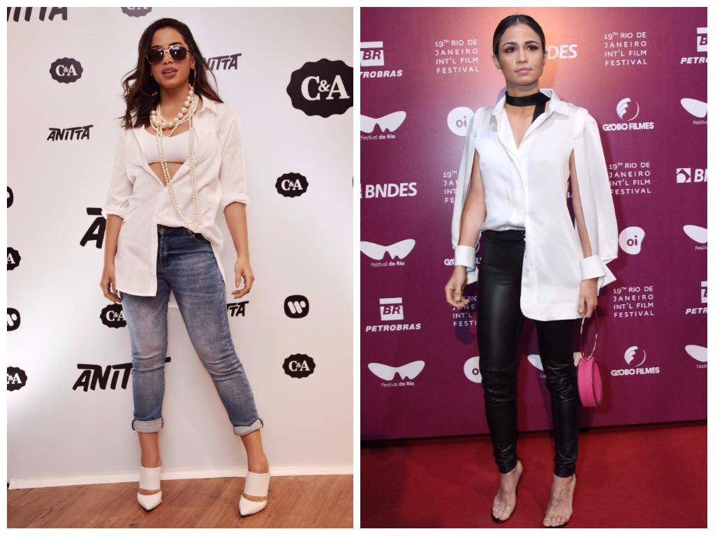 Looks de Anitta e Nanda Costa (Fotos: Helena Yoshioka/C&A/Divulgação - AgNews)