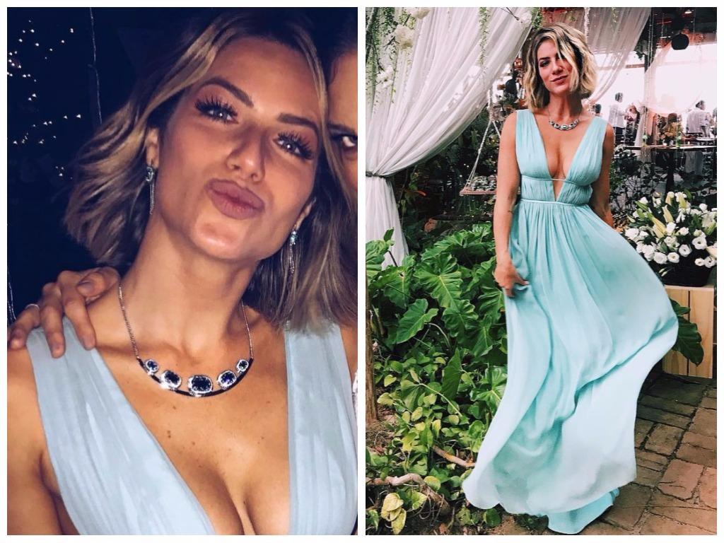 Giovanna Ewbank usa longo decotado de 4,9 mil em casamento