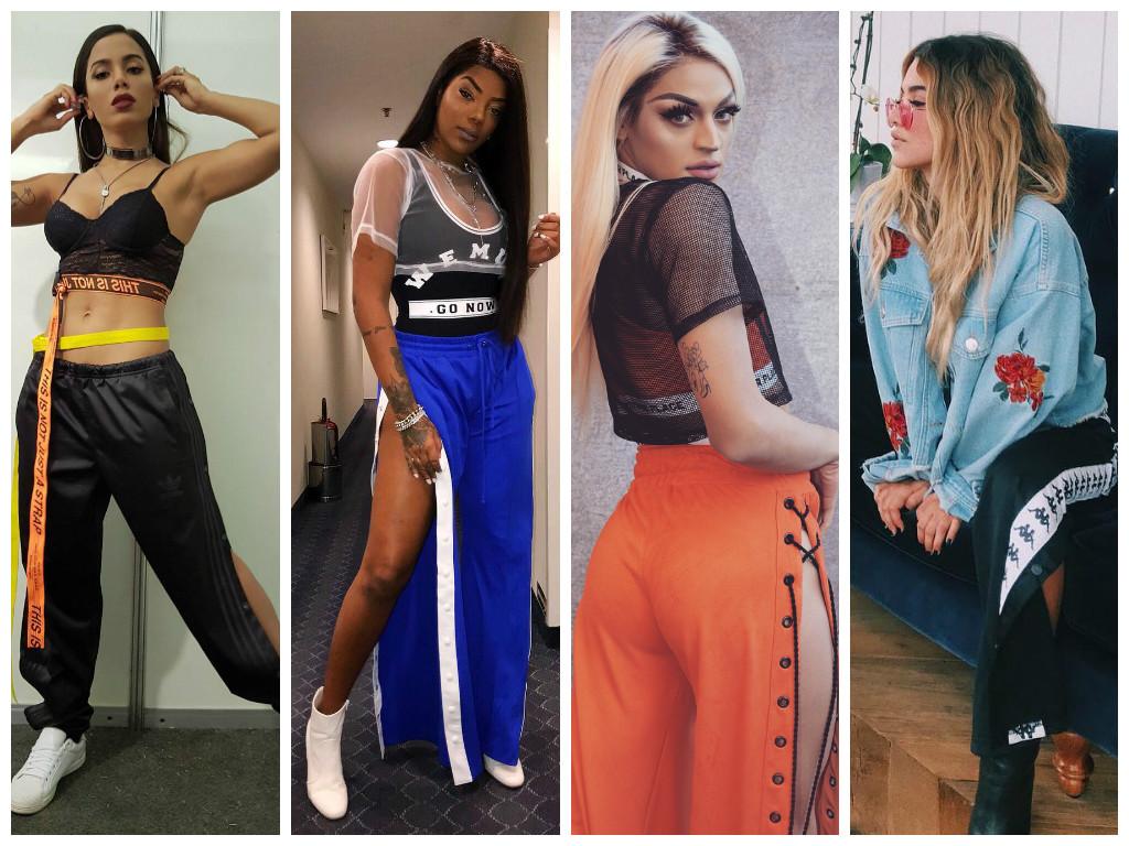 Famosas vestem calçatracker com fenda (Fotos: Instagram/Reprodução)