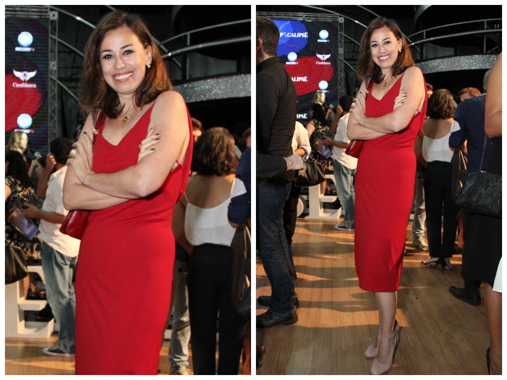 6caab612a Festa da novela Apocalipse conta com looks em vermelho e P&B