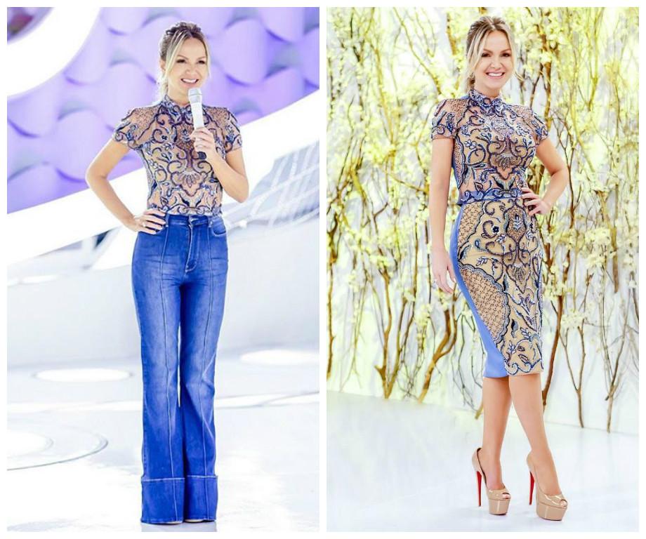 Eliana veste blusa de R$2 mil em 2 looks: despojado e chique