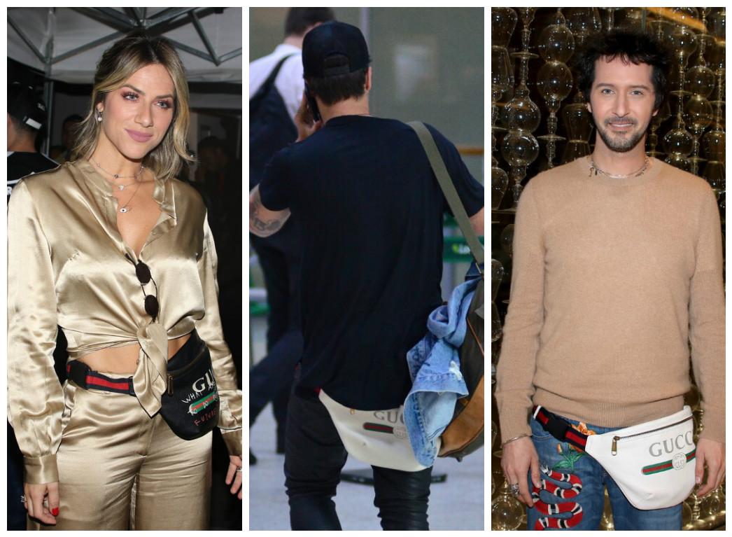 Giovanna Ewbank, Bruno Gagliasso e Arlindo Grund de pochete (Fotos: AgNews)