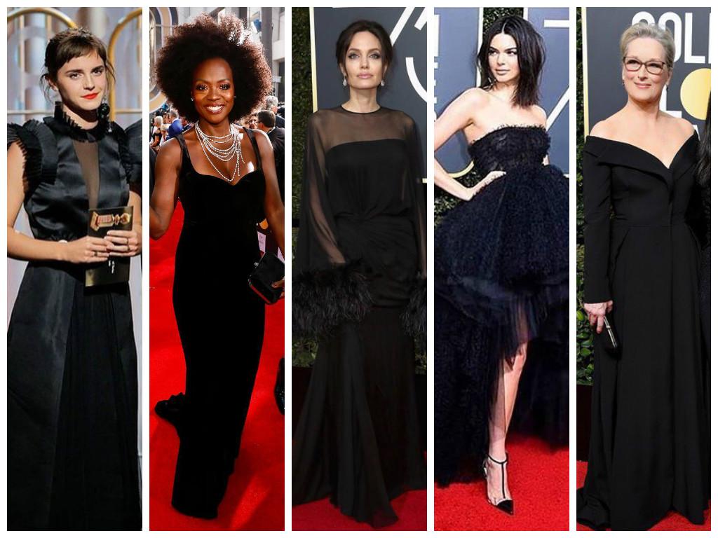 Looks pretos das famosas no Globo de Ouro (Fotos: Instagram/Reprodução)
