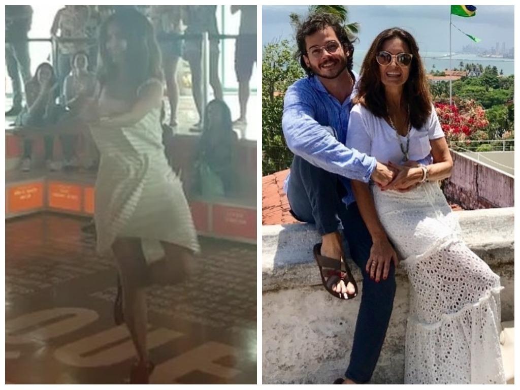 Fátima Bernardes arrasa nos looks em viagem com namorado