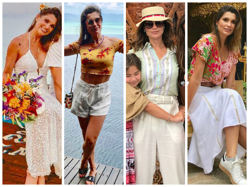 Flávia Alessandra se casa na Tailândia com vestido sensual