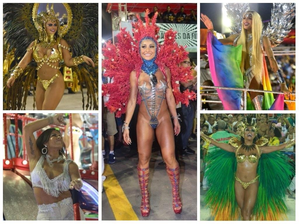 Qual famosa estava mais bonita nos desfiles de Carnaval?
