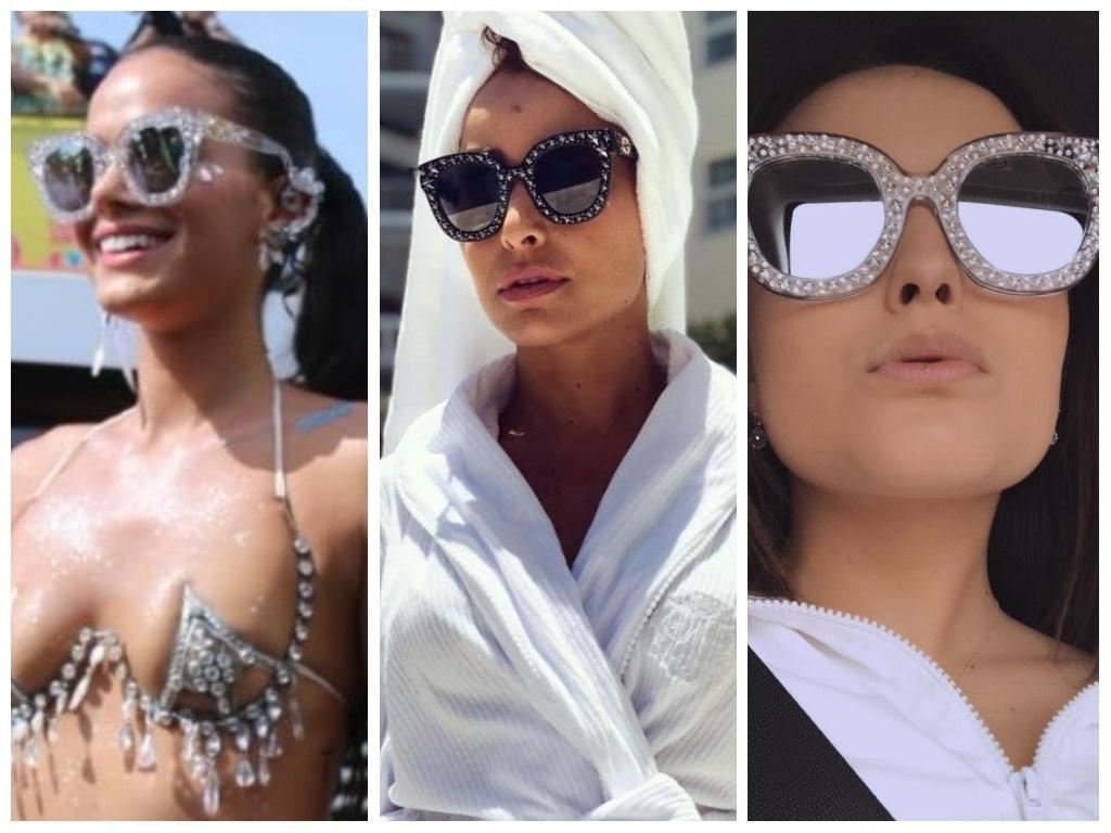Marquezine, Sato e Larissa apostam em óculos de R$ 7,3 mil
