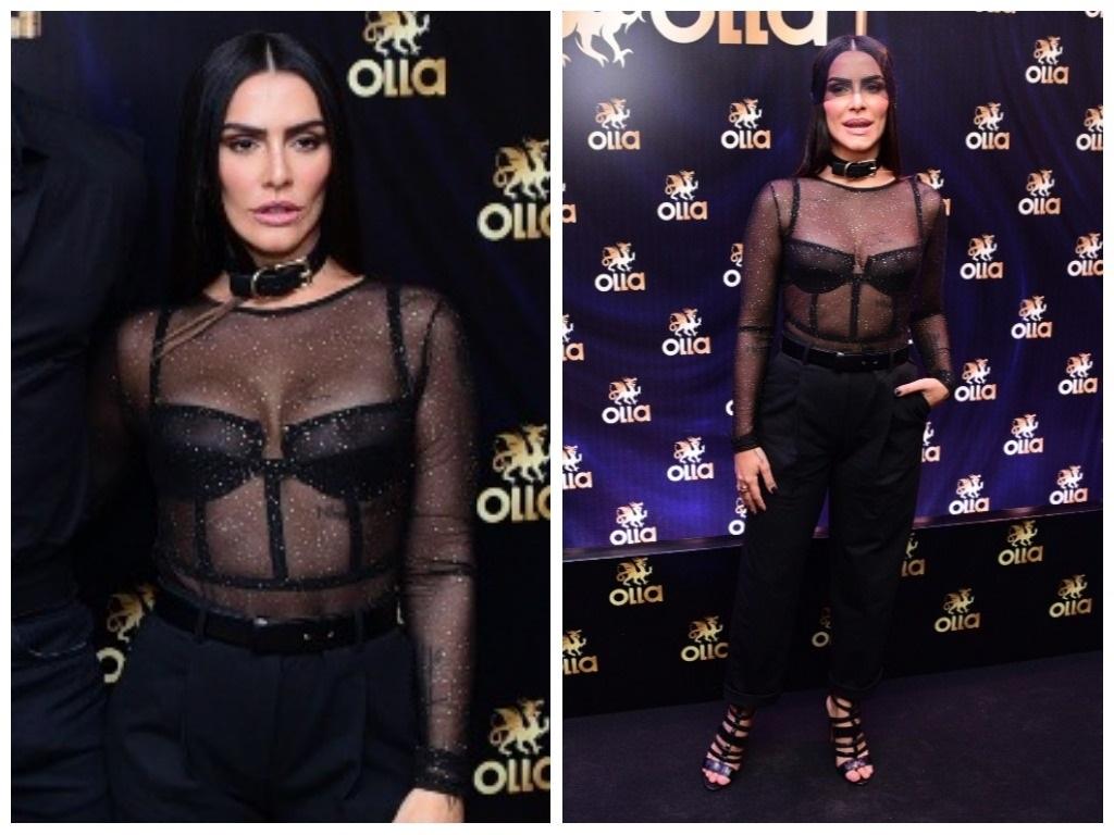 Fetiche: Cleo veste sutiã e coleira de sex shop