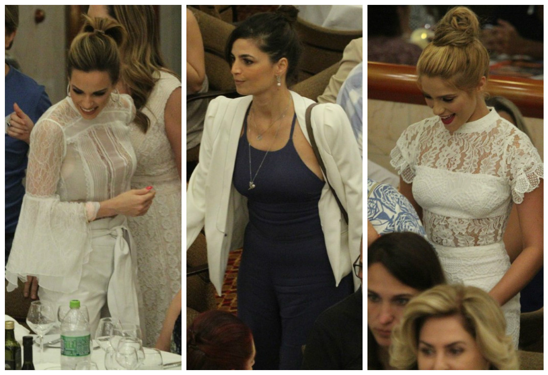 Ana Furtado, Emanuelle Araújo e Isabella Santoni no show de Roberto Carlos (Fotos: AgNews)