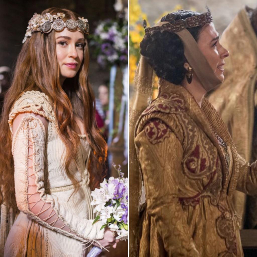 Marina Ruy Barbosa e Tatá Werneck em 'Deus Salve o Rei' (Fotos: Marília Cabral/Artur Meninea/TV Globo/Reprodução)
