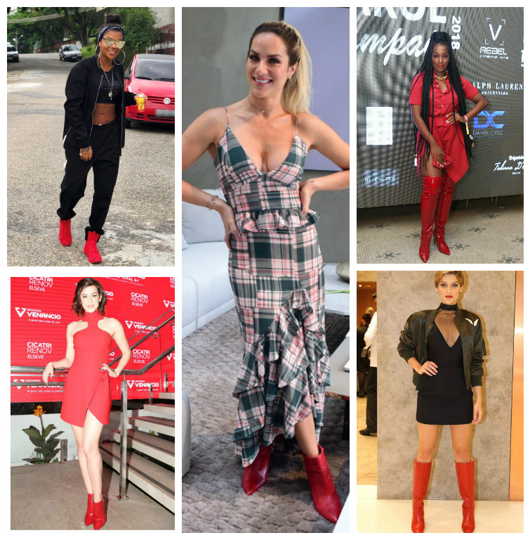 Ludmilla, Sophia, Ewbank 'desfilam' com botas vermelhas