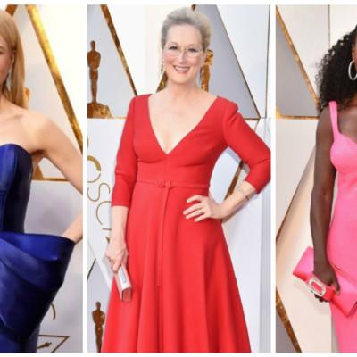 """Oscar 2018: looks pretos dão lugar a cores no """"red carpet"""""""
