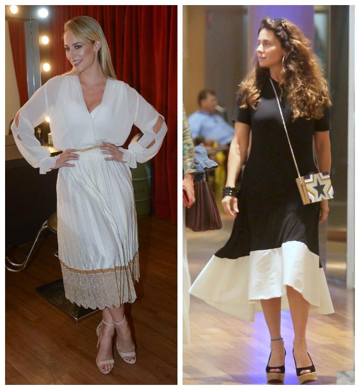 Paolla Oliveira e Antonelli usam tendência na barra da saia