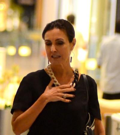 Fátima Bernardes e Marina R Barbosa acertam com roupa preta