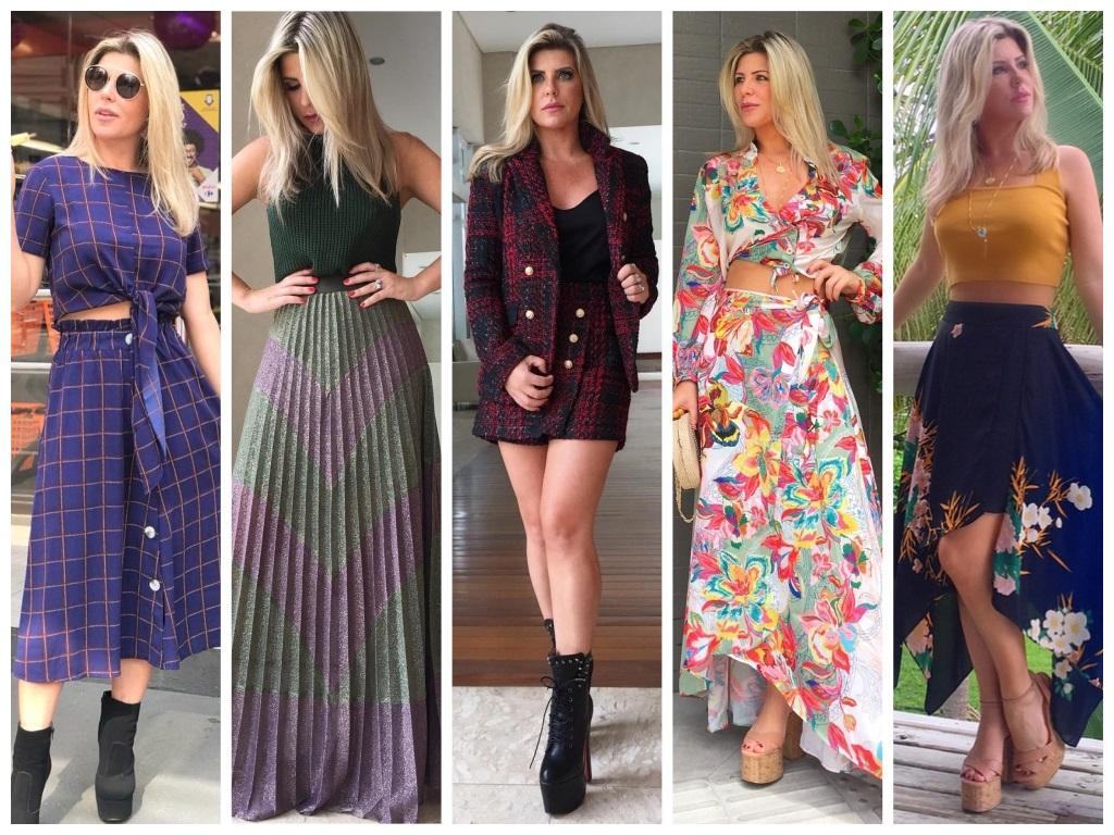 Vote: Qual é o look com saia mais bonito da Íris Stefanelli?
