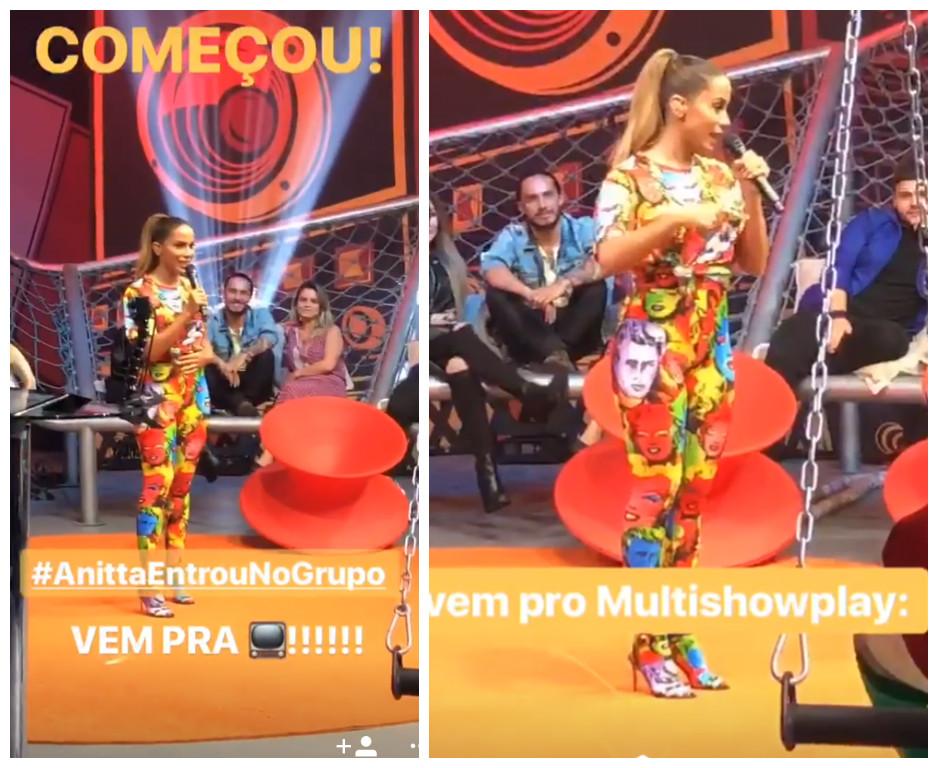 """Anitta na estreia do programa """"Anitta Entrou no Grupo"""" (Fotos: Reprodução/Instagram/@multishow)"""