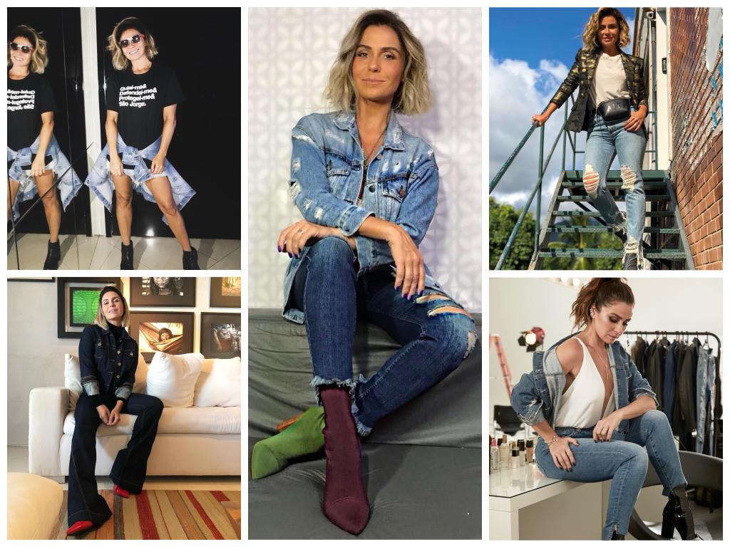 Looks jeans da Giovanna Antonelli (Fotos: @gioanto/Instagram/Reprodução)
