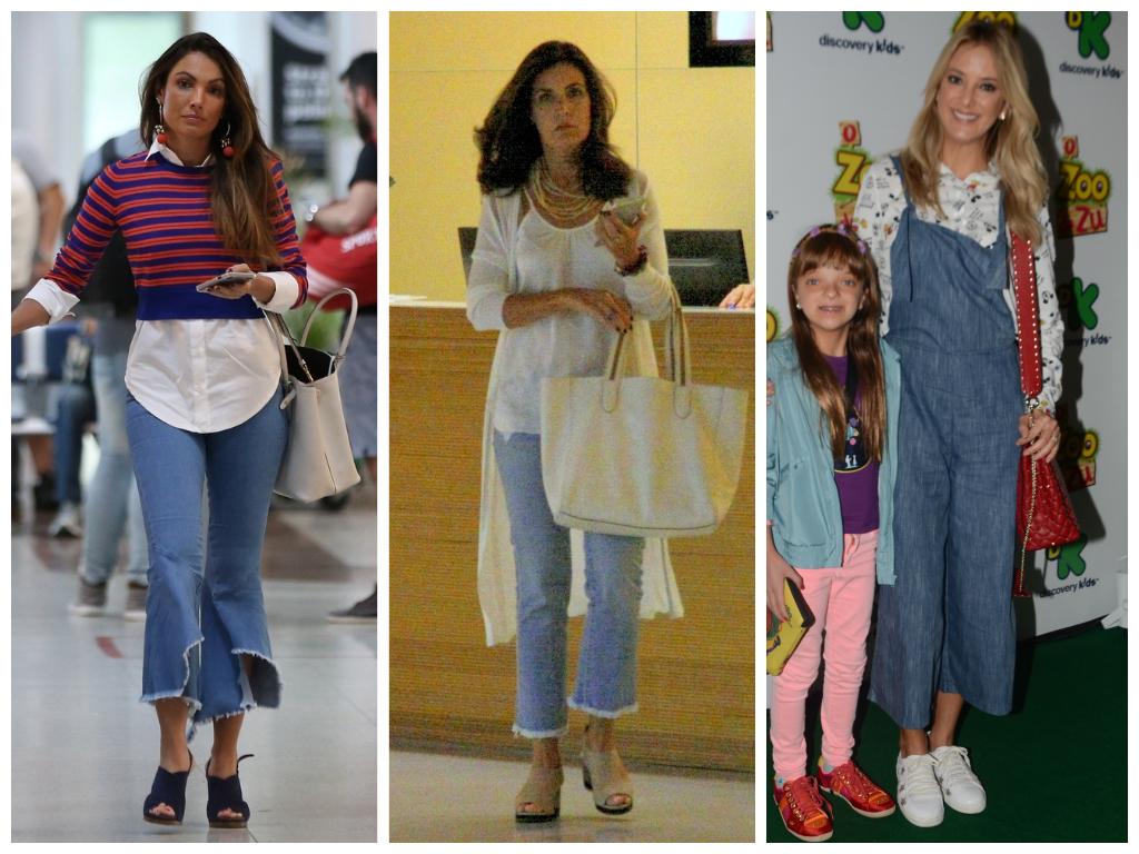 Jeans: Cropped flare conquista Patricia Poeta e Bernardes