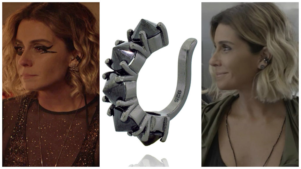 Giovanna Antonelli como a DJ Ariella e o piercing de orelha (Fotos: Divulgação)