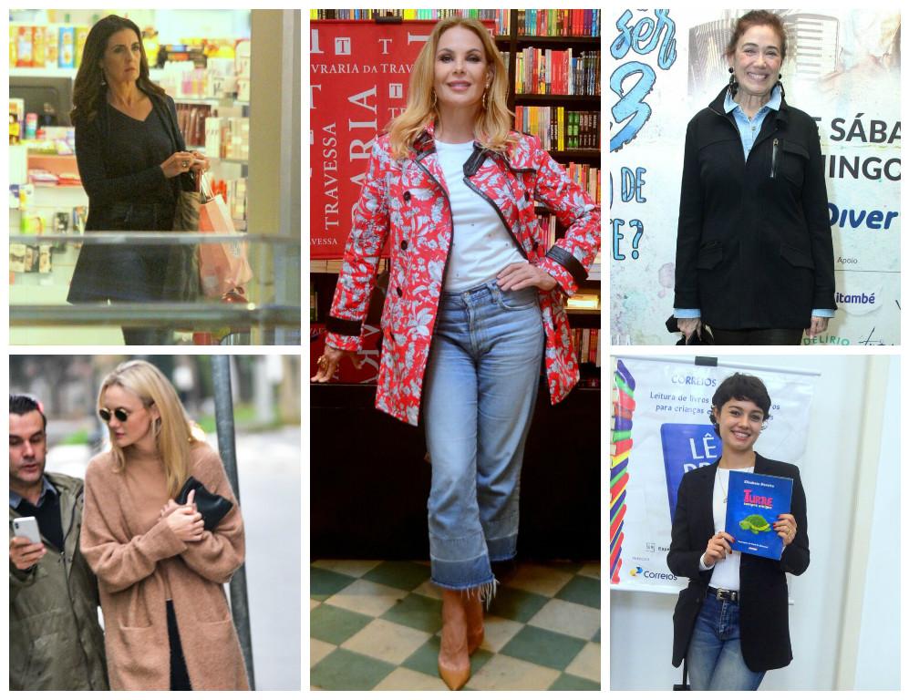 Os casacos das famosas (Fotos: AgNews)